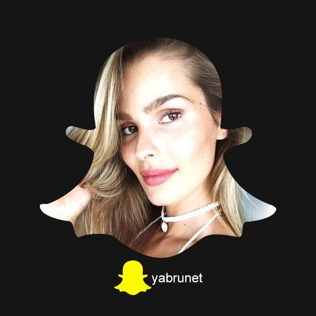 Snapchat Yasmin Brunet (Foto: Editora Globo)