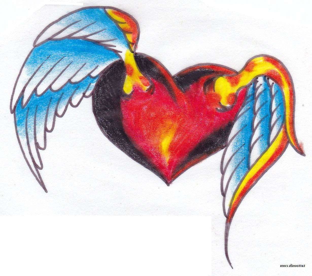 Heart With Angel Wings Tattoos Cool Tattoos Bonbaden