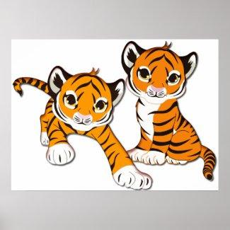 Tiger Cub Twins Print