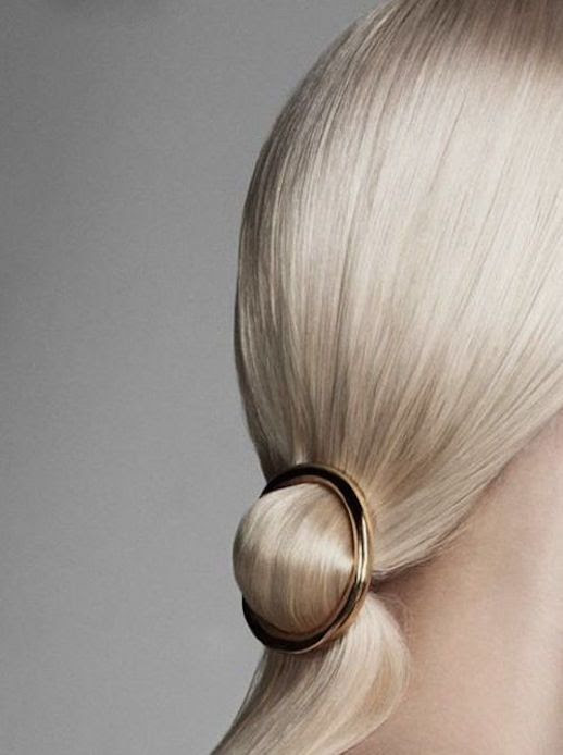 Le Fashion Blog 15 Ways To Wear Round Circle Hair Clip Pin Accessory Hairstyle Sleek Blonde Ponytail Gold Harpers Bazaar Netherlands Via Wikkie Hermkens