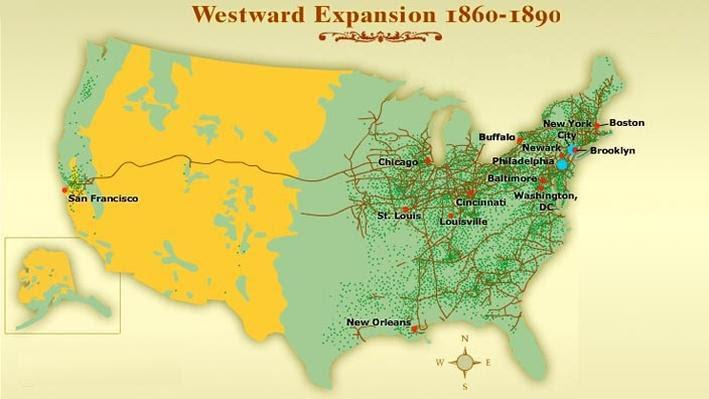 Us Map Westward Expansion