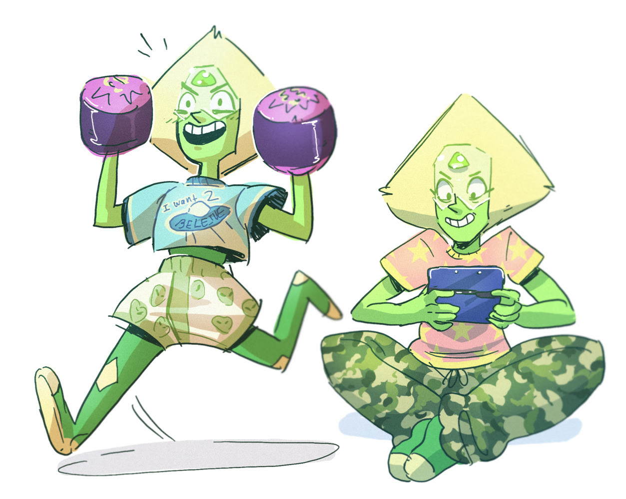 I want 2 believe !! I caught up in SU recently, yis. Peridot with Sock 'um boppers and moon shoes is basically all I want.