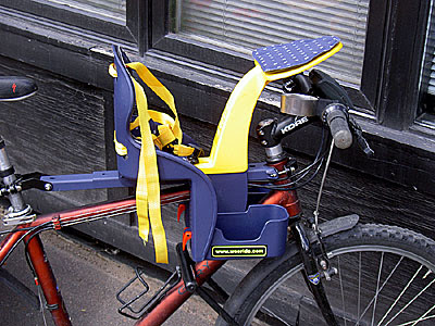 Weeride Child Seat on Xtracycle