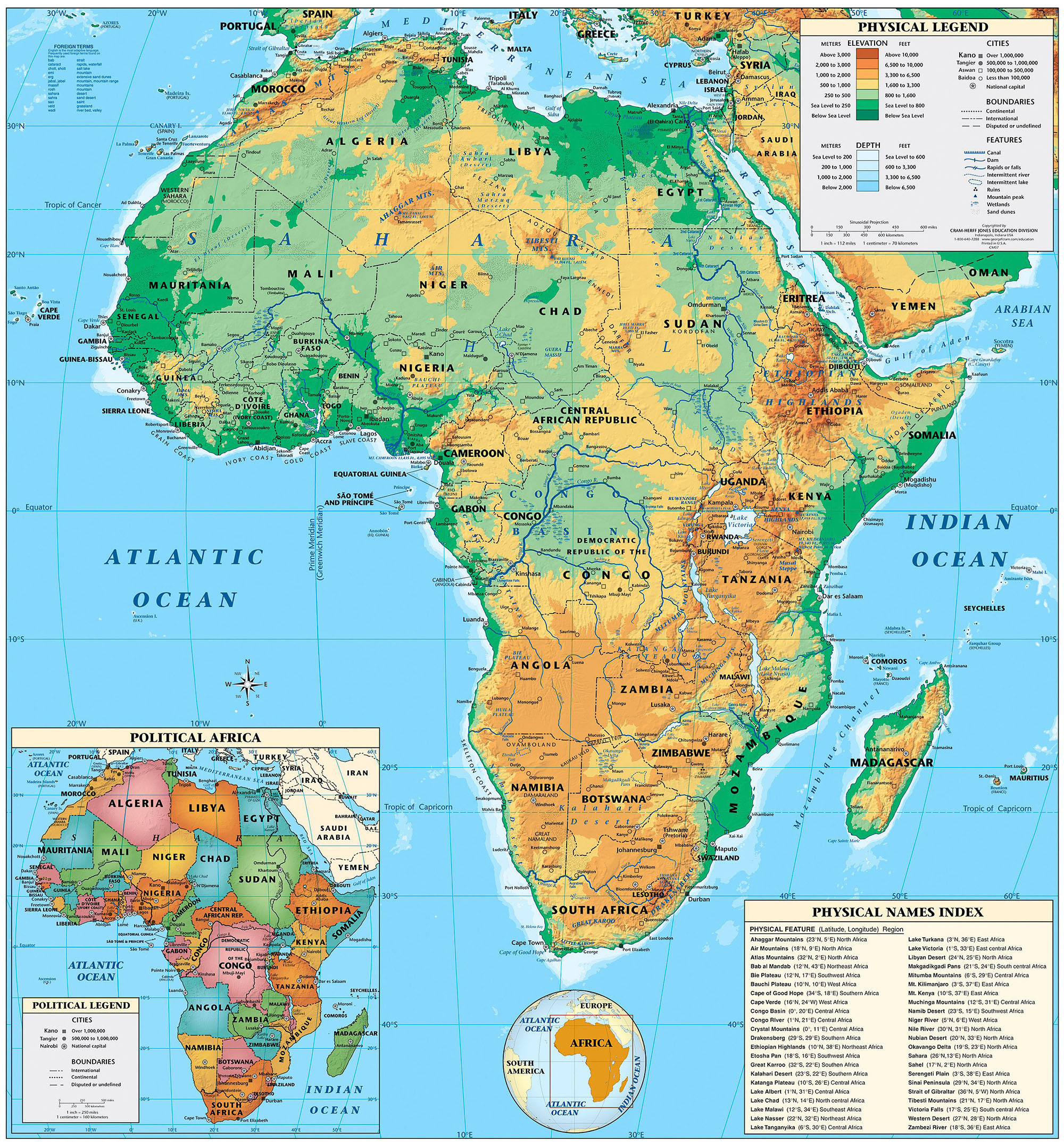 Geography Detailed Map Of Africa.Africa Map Africa Map Geography