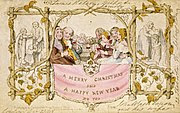 The world's first Christmas card, made by John Callcott Horsley
