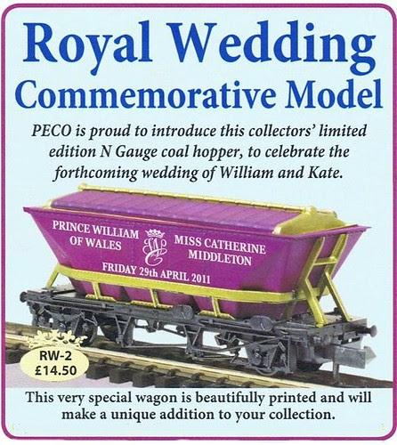 Royal Wedding Model Train