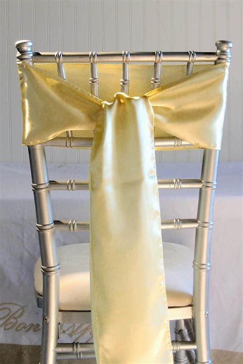 10 Daffodil Yellow Satin Chair Sashes 6x106