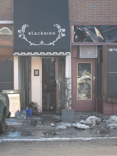 Morning after the fire at Blackbird