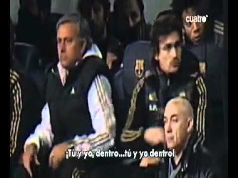 Rui Faria, assistente  di Mourinho minaccia la panchina del Barça