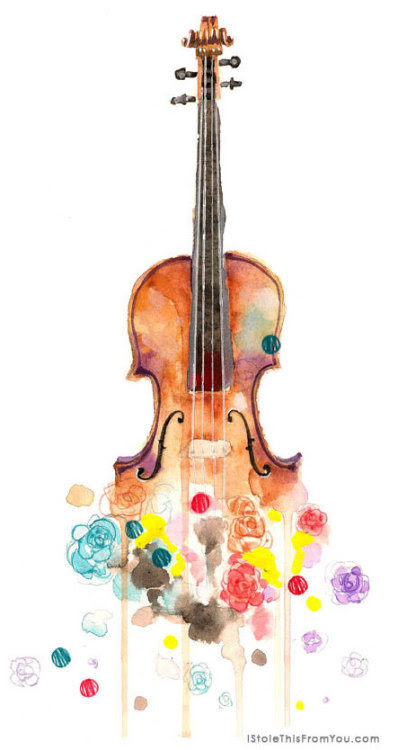 A few new stories on IStoleThisFromYou.com since the last time I posted here… This little painting was a delight to do, and you can read all about this lovely violin right here.
