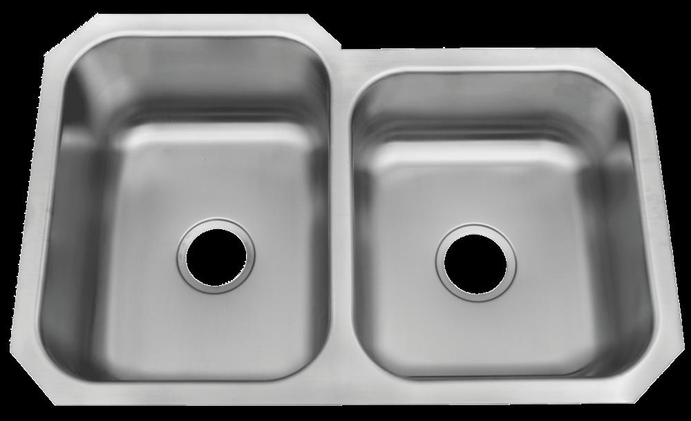 Patriot Virginian 18 Gauge Stainless Steel Undermount 6040 Double Bowl Sink