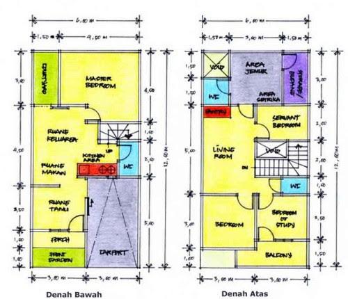 Desain dan Denah Rumah Minimalis Type 21