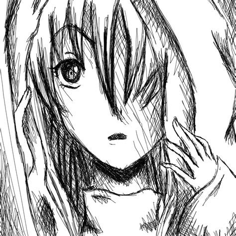 hooded girl  anime speedpaint drawing  artfreaksue
