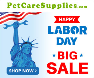 Celebrate Labor Day with Your Pet! Take 12% Extra OFF + Free Shipping. Use Coupon: LABOR12