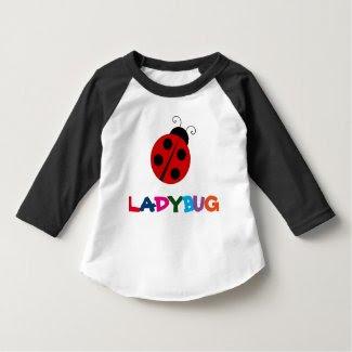 Ladybug 3/4 Sleeve Raglan Toddler T-Shirt