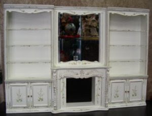 D8041 White Wall Unit / Display / Fireplace [D8041] - $115.00 ...