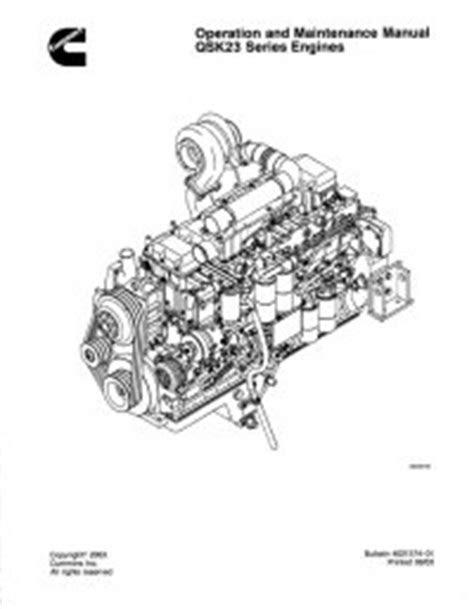 Cummins QSK23 Engine Operation Maintenance Manual PDF