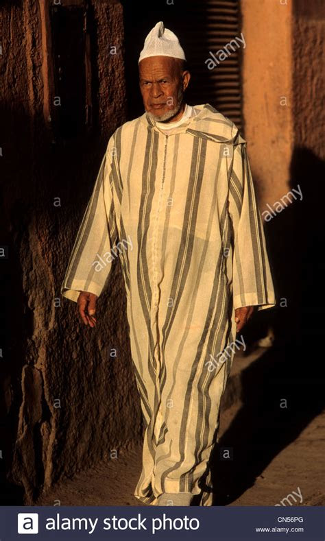 moroccan man wearing  djellaba   streets