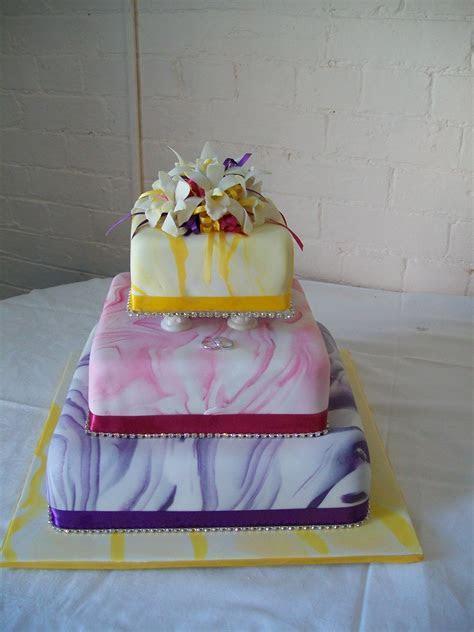 orchid rainbow wedding cake   cakedreamingwithdiane