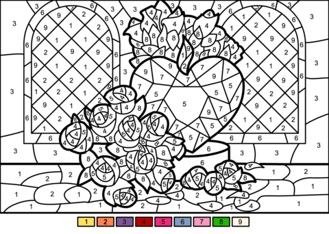 57 Color By Number Coloring Book Online Picture HD