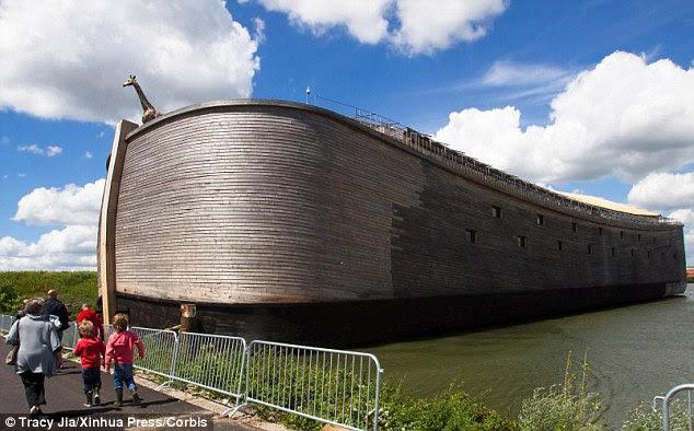 the 23-metre high, 30-metre wide and 135-metre long boat began in 1992