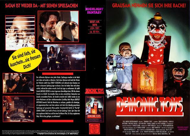 Demonic Toys (VHS Box Art)