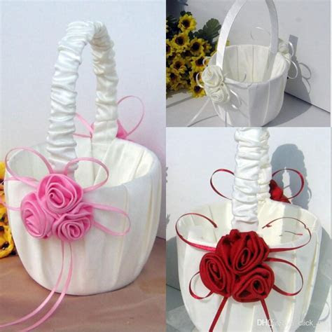 Flower Girl Baskets for Wedding Favors Basket Bridesmaid