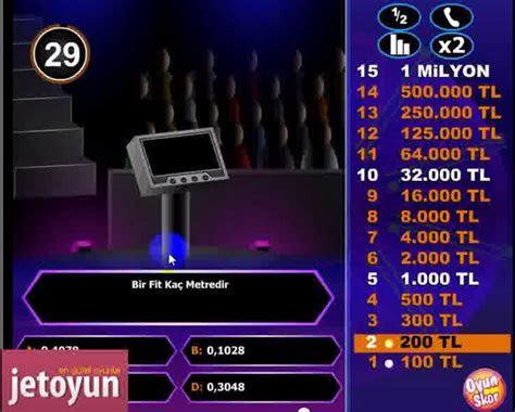 kim milyoner olmak ister oyunu oyna zeka oyunlari