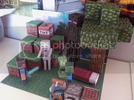 Papermau Make Your Own Minecraft Diorama By Minecraft