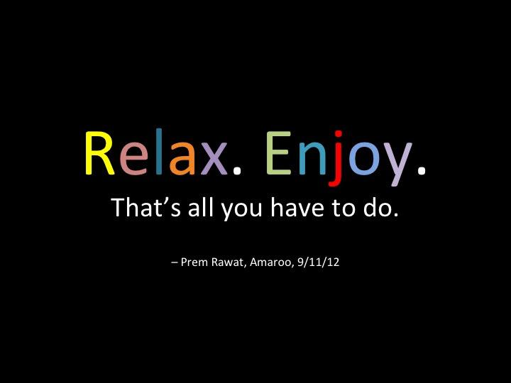 The Heart Of The Matter Relax Enjoy