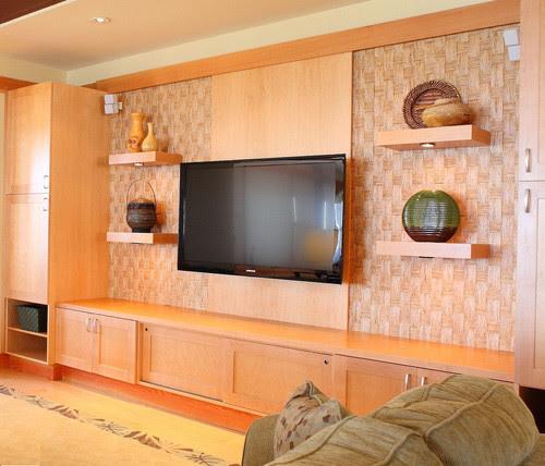 Big Island ocrean front residence tropical media room