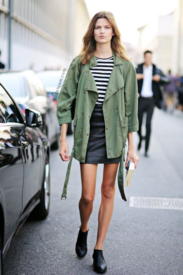 Le Fashion Blog Model Off Duty Milan Street Style Bette Franke Green Army Jacket Black Leather Skirt Booties Ankle Boots Via Models Jam photo Le-Fashion-Blog-Model-Off-Duty-Milan-Street-Style-Bette-Franke-Green-Army-Jacket-Black-Leather-Skirt-Booties-Ankle-Boots-Via-Models-Jam.jpg