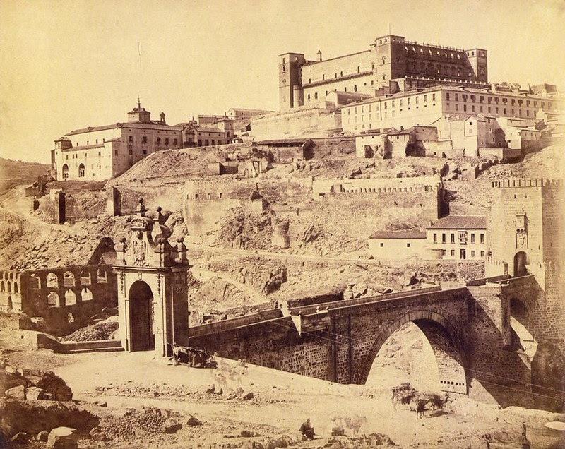 Artificio de Juanelo y Puente de Alcántara hacia 1858. Foto de Louis Léon Masson