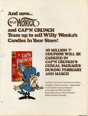 Cap'n Crunch ad for Wonka Coupon