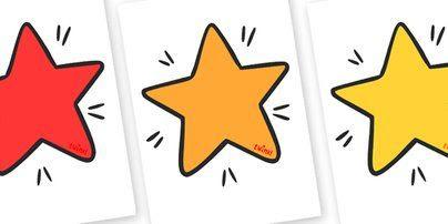 Editable Display Stars - Editable stars, star, stars, editable ...