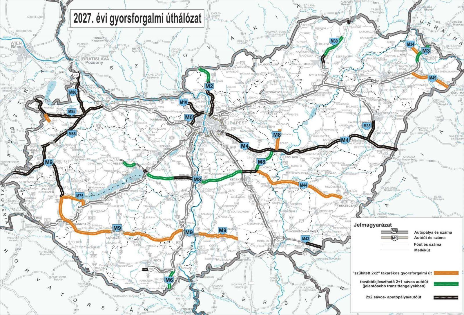 m4 autópálya térkép M4 Nyomvonal Térkép   Térkép