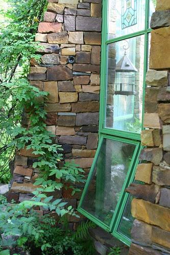hobbit house greenhouse windows