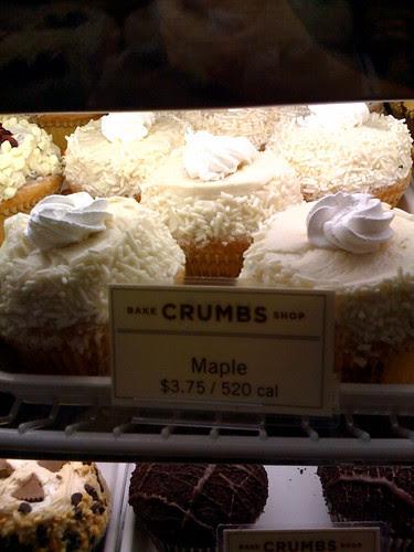 Crumbs Bakeshop Midtown NYC maple cupcakes