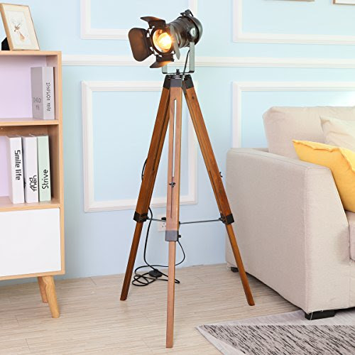 Tripod Floor Lamp Decorative Lamps Industrial Searchlight Table Lights The Super Boomer Lifestyle
