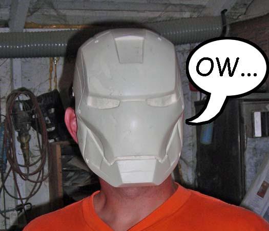 Undersized Ironman Helmet