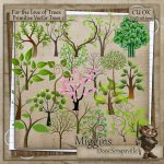 CU Hand Drawn For the love of Trees Primitive Vector Trees 2
