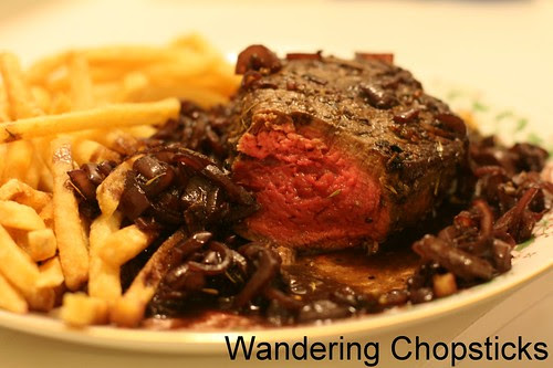 French Filet Mignon with Red Wine Shallot Sauce 1