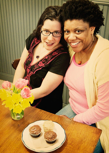 Nichelle Stephens and Rachel Kramer Bussel of Cupcakes Take the Cake