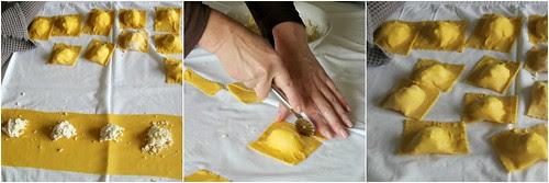 Lemon & Goat Cheese Ravioli Collage