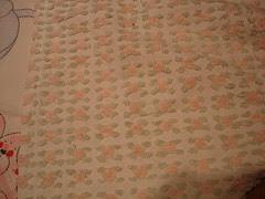 30's chenille quilt back - vintage
