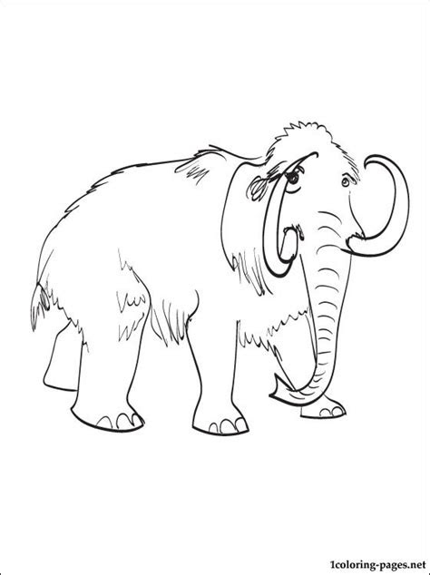 mammoth coloring  printable page coloring pages