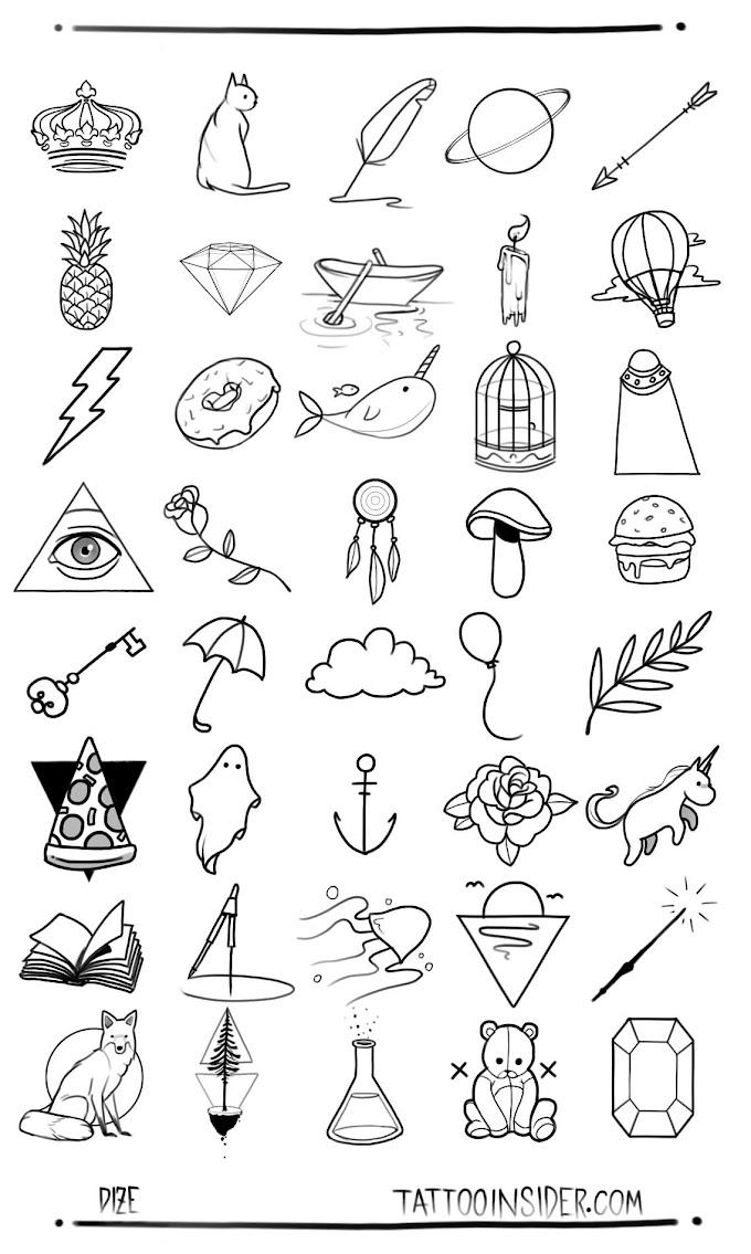 Unique Small Tattoo Sketches