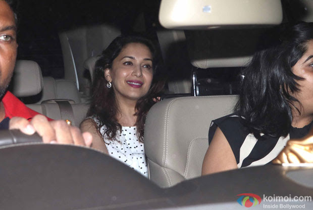 Madhuri Dixit during the Special Screening of Fan at YRF Studios