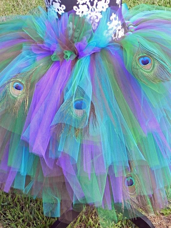 Peafection Peacock Adult Elaborate Tutu Costume