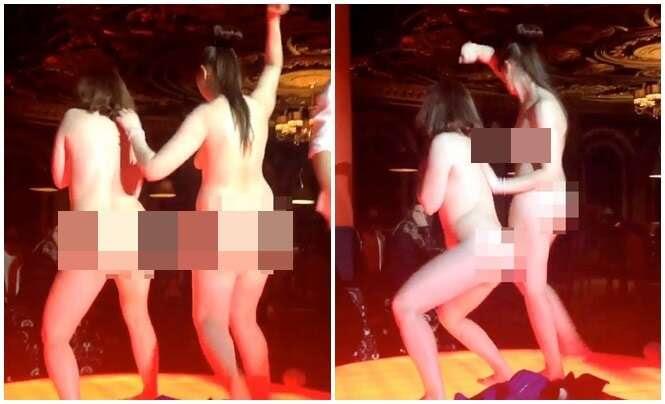 Mulheres dançam nuas em concurso bizarro para ganhar iPhone 5S